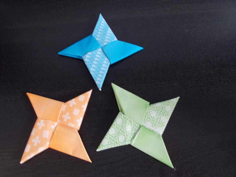 Easy Origami Ninja Star Tutorial Pinterest Origami Ninja Star