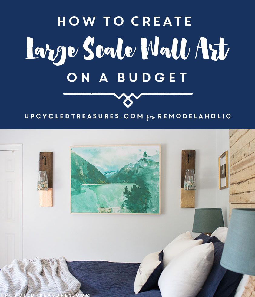 Large diy wall art on a budget this is so easy to do yourself