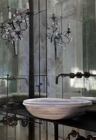 Eye For Design Decorate With Mirrored Walls Beautiful Bathrooms Mirror Wall Brown Interior