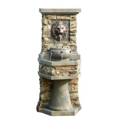Fountain Cellar Lion Head Outdoor Indoor Water Fcl013 The Home Depot