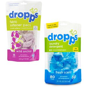 Buy ANY Dropps Laundry Detergent Pac and get a BONUS Fabric Softener Pac Value Bundle