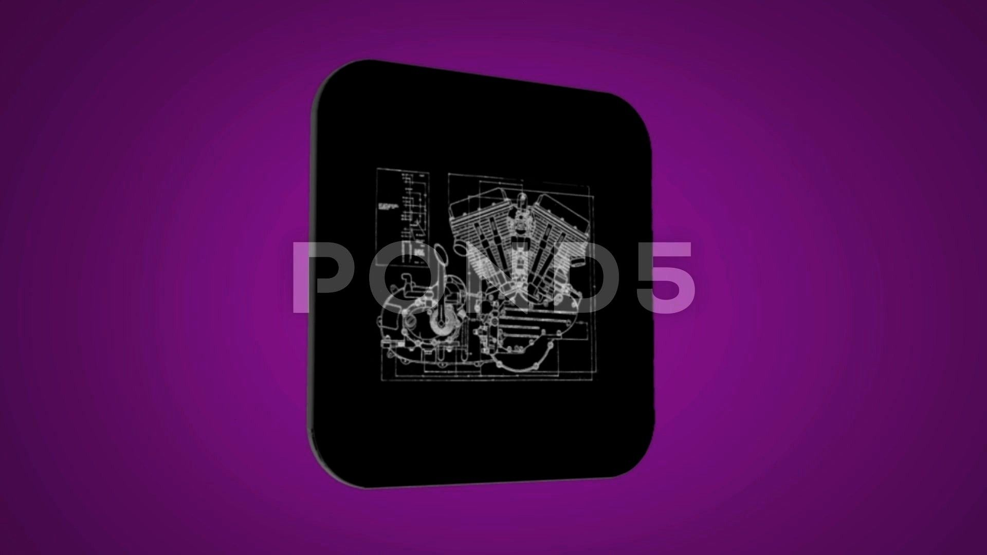 intro - Candle Engine - Transition Blueprint - purple 02 Stock Footage ,#Candle#Engine#intro#Vector