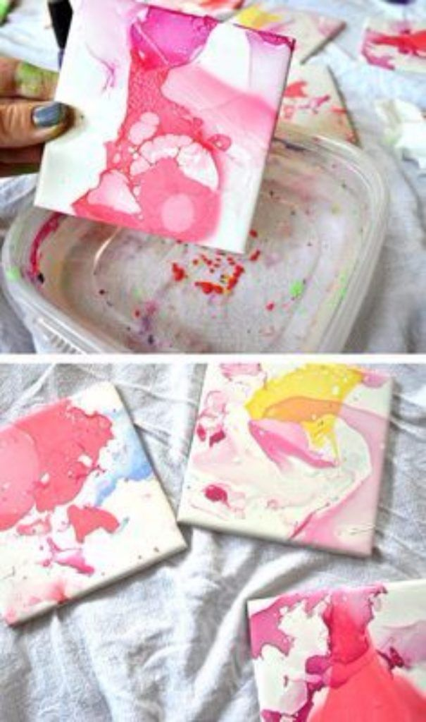 31 creative nail polish crafts crafty pinterest ceramic tile diy nail polish crafts nail polish ceramic tile crafts easy and cheap craft ideas for girls teens tweens and adults fun and cool diy projects you solutioingenieria Choice Image