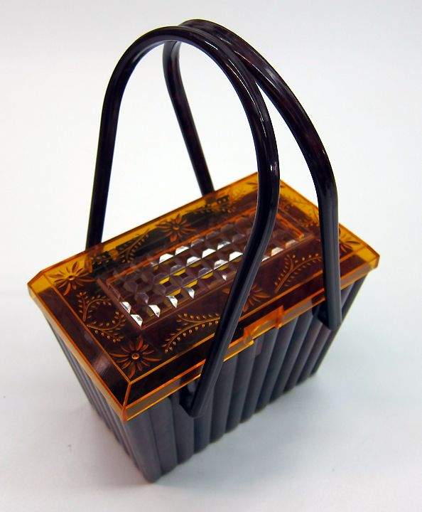 Vintage Lucite Plastic Purse - Made by Plastic Jewel NYC 1950's