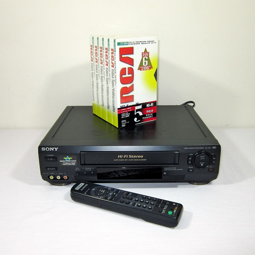 Sony Slv N50 Vhs Vcr Vhs Hifi 4 Head Remote Control Tested 5 New Vhs Tapes Sony Vhs Player Hifi