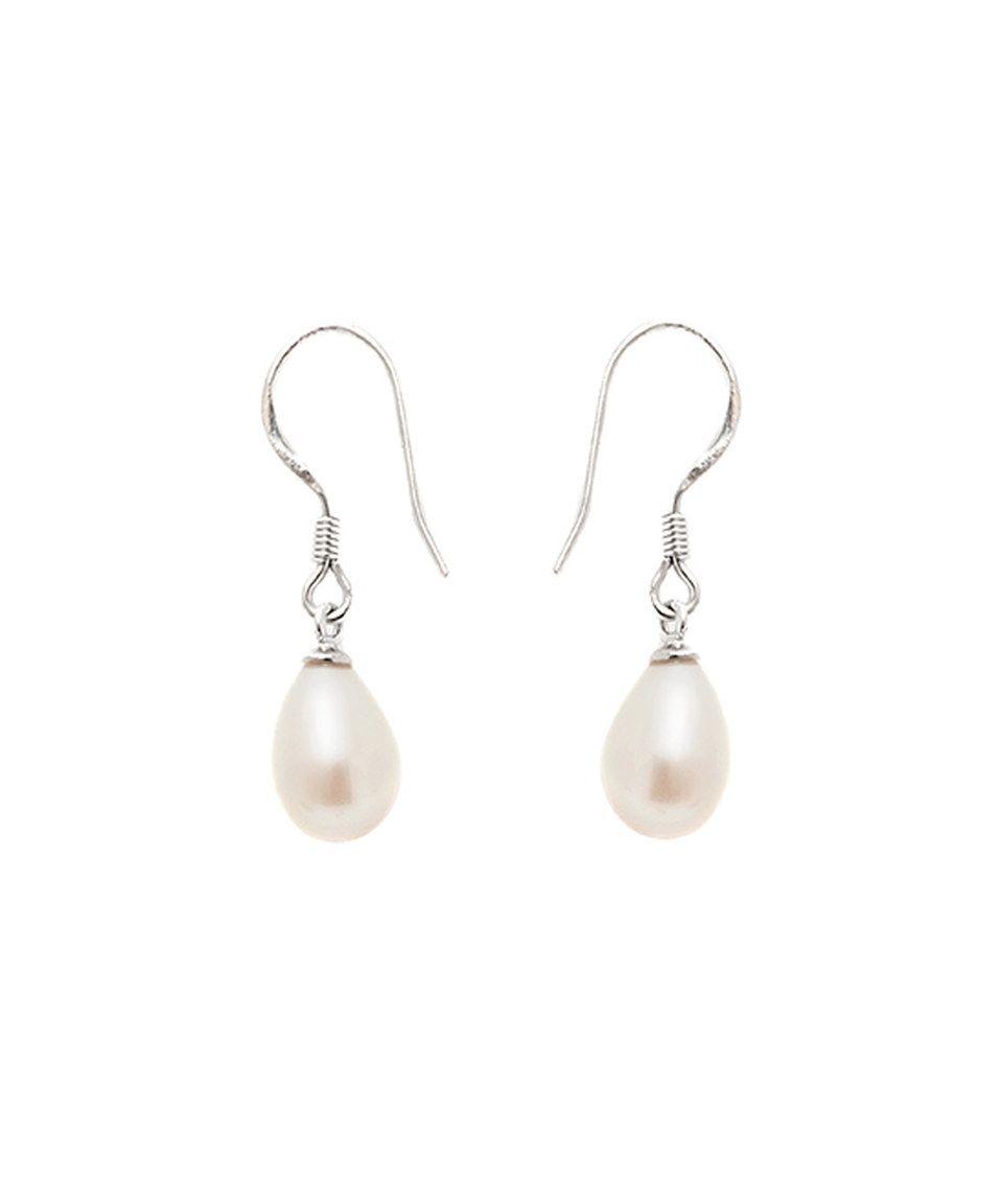 Pearl Earrings 925 Sterling Silver D.Perlla White Pearl Dangel Earrings Gift Idea for Women kDDIcqFZLH