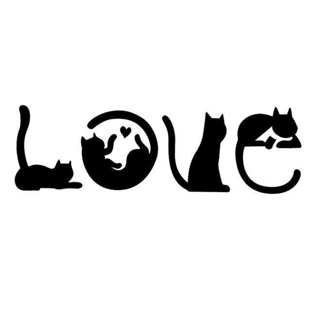 Katzen Zauber Liebe Auto Aufkleber - #Aufkleber #Auto #Katzen #LIEBE #Zauber