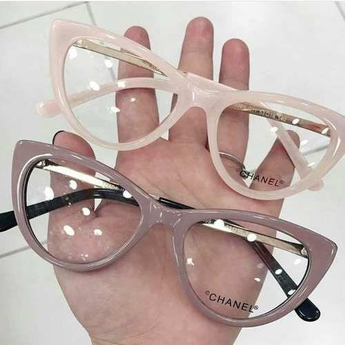 1a37e22c571d9 Óculos De Grau Chanel Gatinho Frete Grátis - R  179
