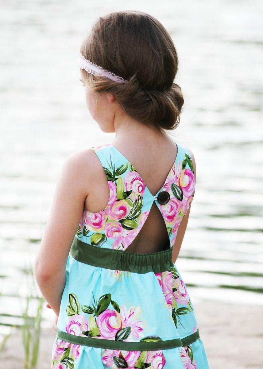 Mia\'s Tieback Top, Dress & Maxi. PDF sewing pattern for toddler girl ...