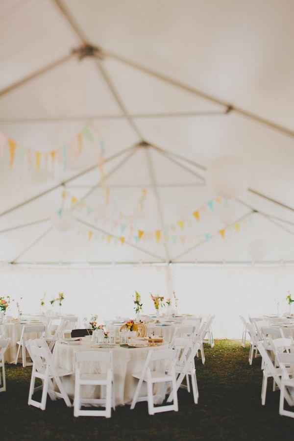 backyard tent wedding.