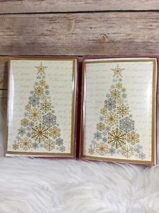 Paper MagIc Group Christmas Cards Silver Gold Trees 16 Cards ...