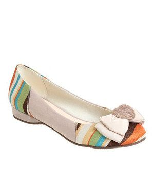 Another great find on #zulily! Beige Julia Flat by Passions Footwear #zulilyfinds