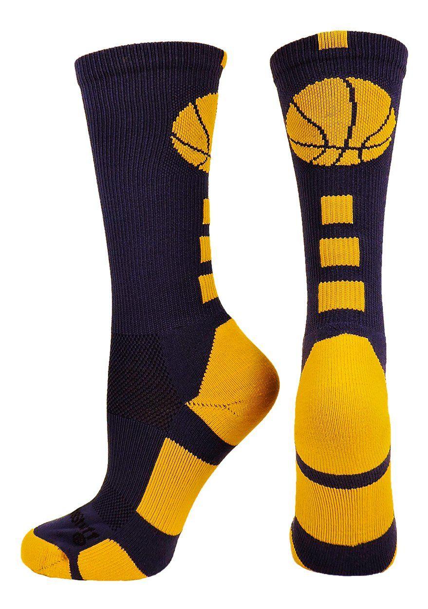 Basketball socks with basketball logo crew socks