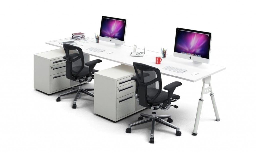 2 Person Workstation Desk Ergonomic Desk Work Station Desk Two
