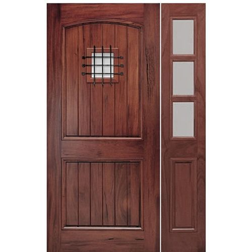 A79psg 1 1 Wood Exterior Door Wooden Main Door Design Exterior Doors With Sidelights