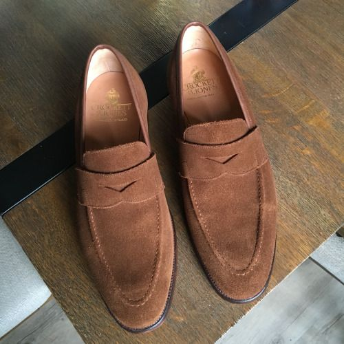 52fefa8f85e Crockett and Jones Sydney penny loafer snuff suede 341 last ...