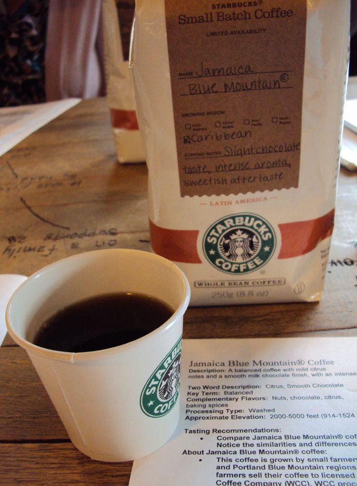 Jamaica-Blue-Mountain-Starbucks-023 Info for a coffee tasting.