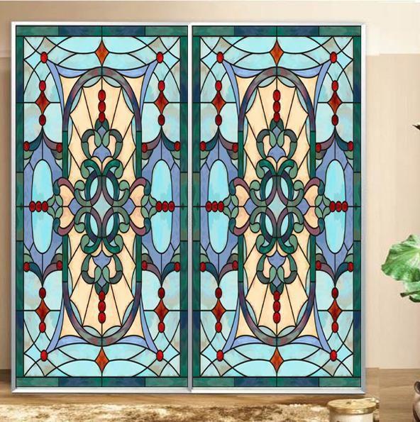 Livraison gratuite couleur fenêtre peinture Art PVC autocollant - Peinture Porte Et Fenetre
