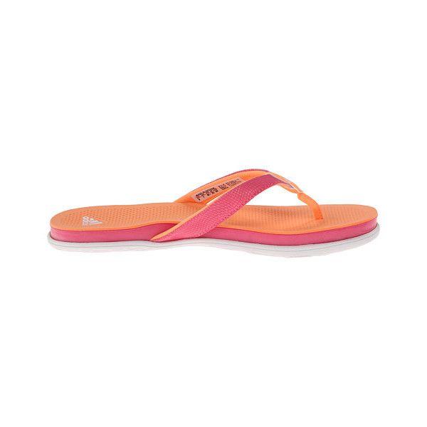 adidas Cloudfoam Ultra Thong (Flash Orange/White/Solar Pink) Women's.