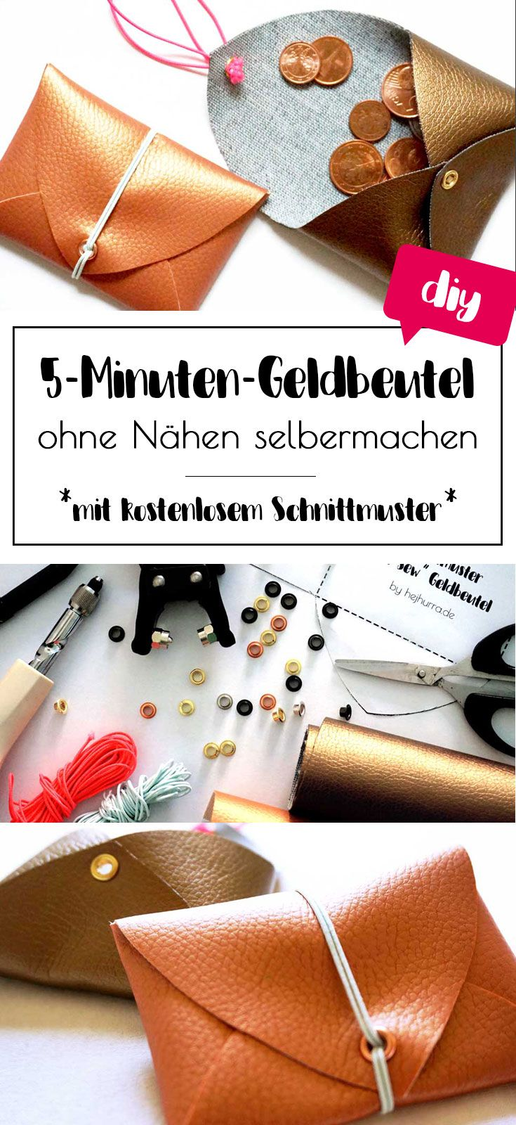5 minuten diy geldbeutel ohne n hen selbermachen hejhurra diy ideen n hen geschenke und. Black Bedroom Furniture Sets. Home Design Ideas