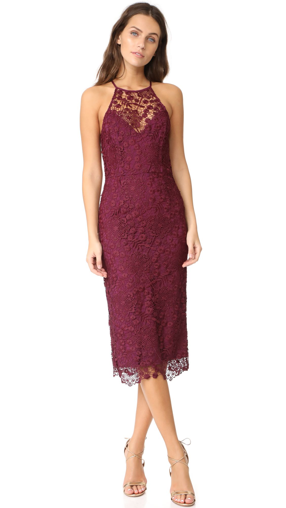 This Beautiful Wine Colored Off The Shoulder Gown Makes For A Beautiful Long Burgundy B Designer Dresses Casual Cocktail Dress Lace Wine Color Bridesmaid Dress [ 2000 x 1128 Pixel ]