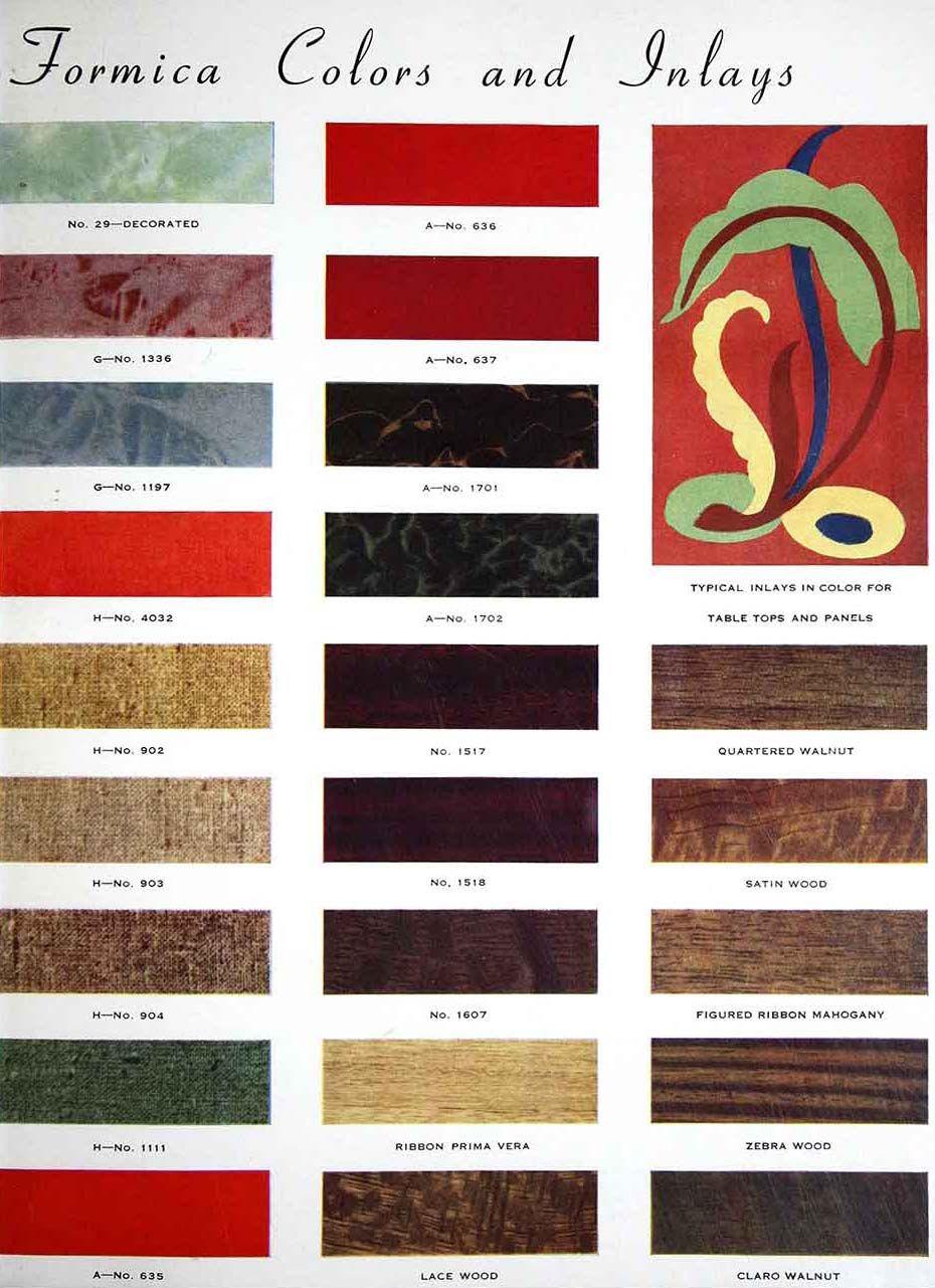 Formica U0027Catalogue Publicitaireu0027   1938 Palette Couleur, Spectacle,  Intérieurs Du0027époque