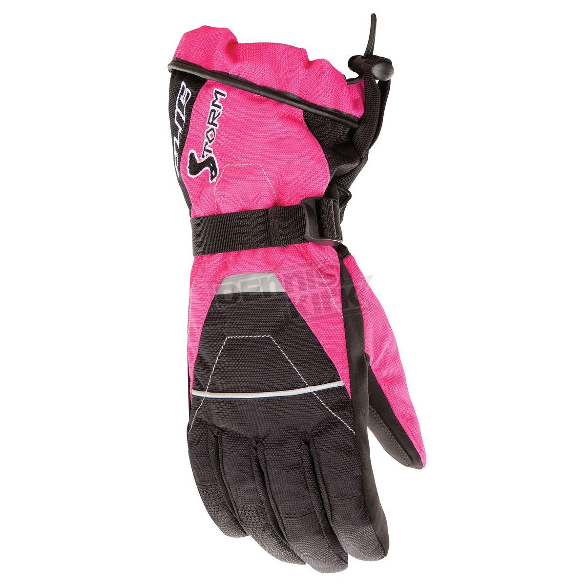pink snowmobile helmets for women   HJC Womens Black/Pink