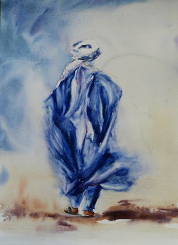 L'homme bleu - Christiane Javaux | Peinture,