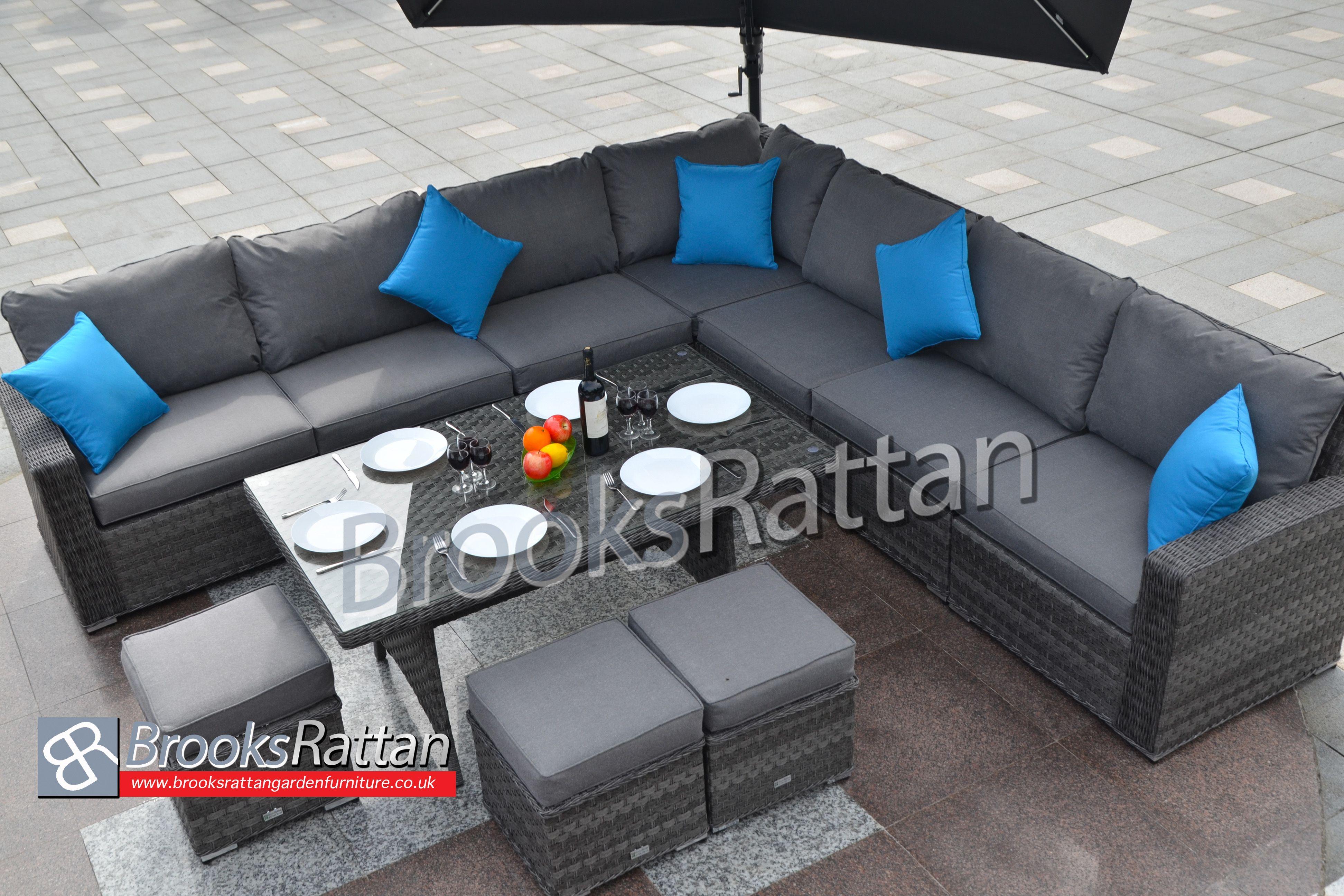 Brooksrattangardenfurniturecouk Corner Dining Serena Seychelles Set Furniture Outdoorfurniture Diningset Sale Essex