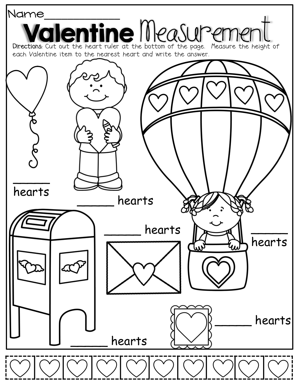 Ruler Worksheet Prek