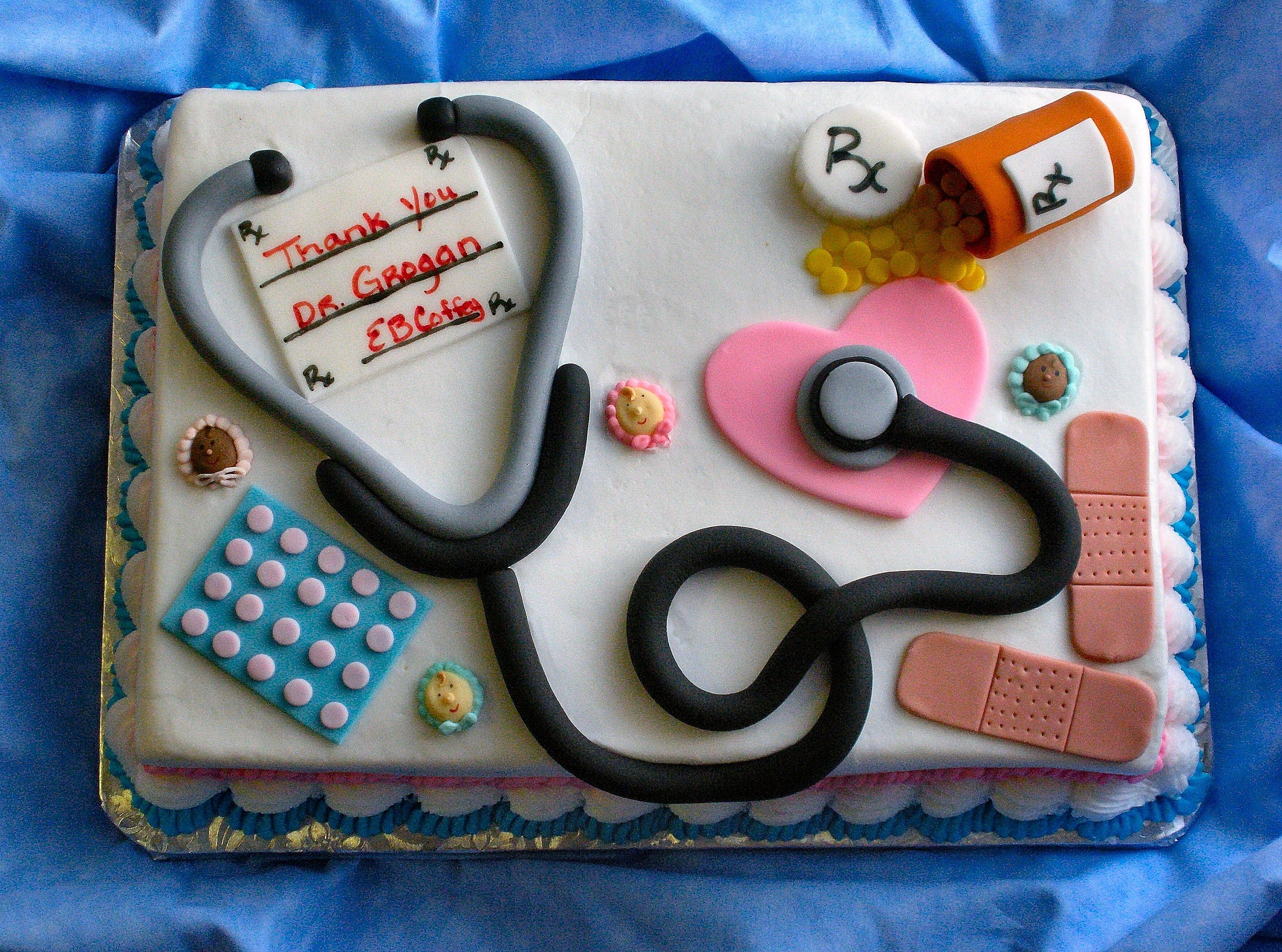 "Cake Decorating Career thanks dr. g! - this was made for my obgyn. it was a ""thank you"