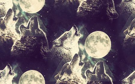 Hipster Triangle Wolves Howling At Moon Twitter