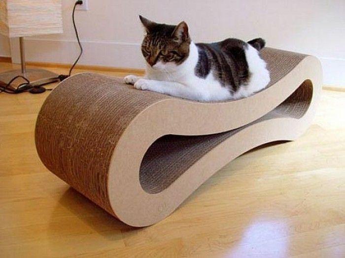 lit pour chat a faire soi meme meuble carton design qui va plair a vos animaux de compagnie. Black Bedroom Furniture Sets. Home Design Ideas