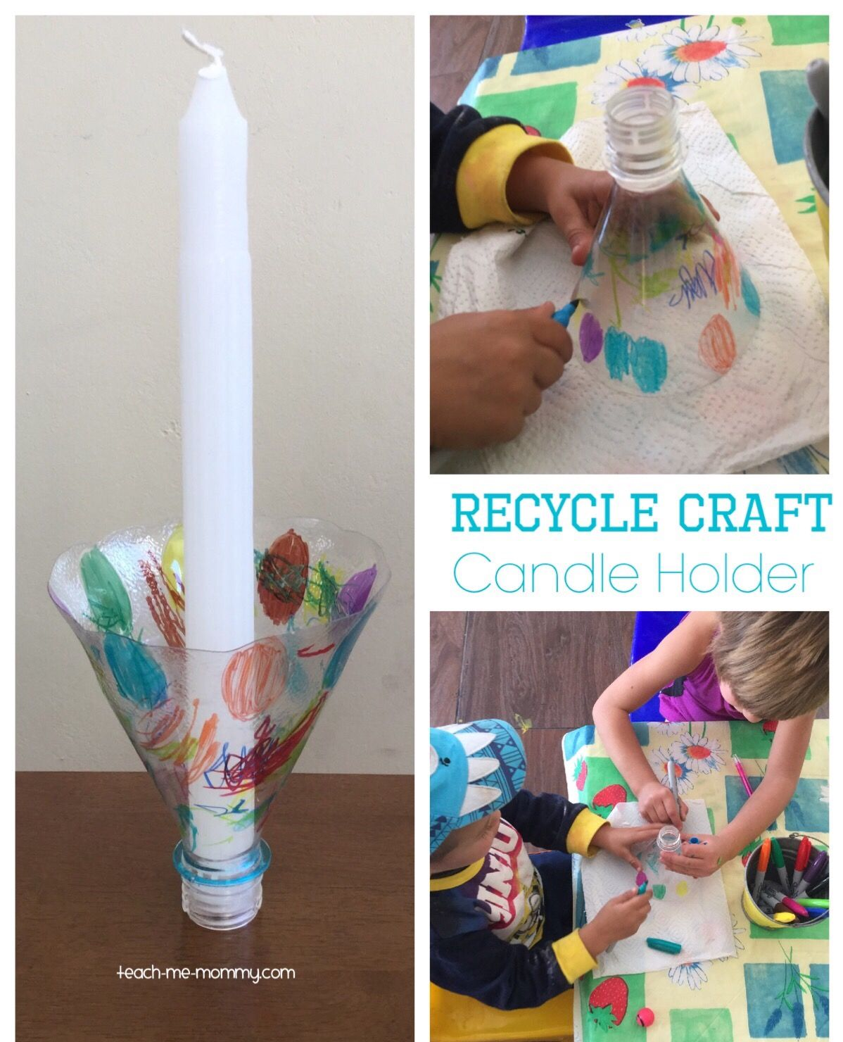 Recycle Craft Candle Holder Kid Blogger Network Activities