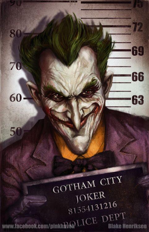 Gotham City Mugshots Joker by pinkhavok El guasón