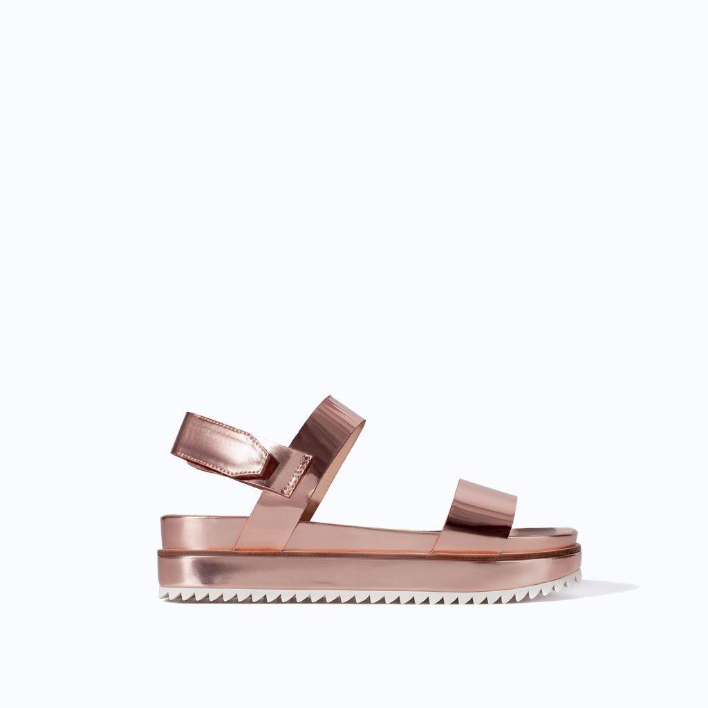 5f0545d4da03 PLATFORM SANDAL WITH TRACK SOLE from Zara