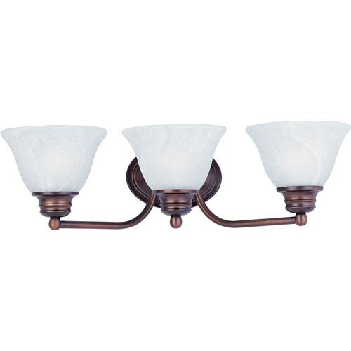 Photo of Maxim Lighting International 2688MROI Orleans three-light bath mixer made of oil-rubbed bronze, traditional | Bellacor