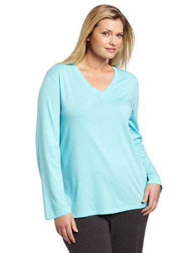 Hue Sleepwear Women`s Plus-Size Long Sleeve V-Neck Sleep Tee  20.00 ... 8f07d32c0