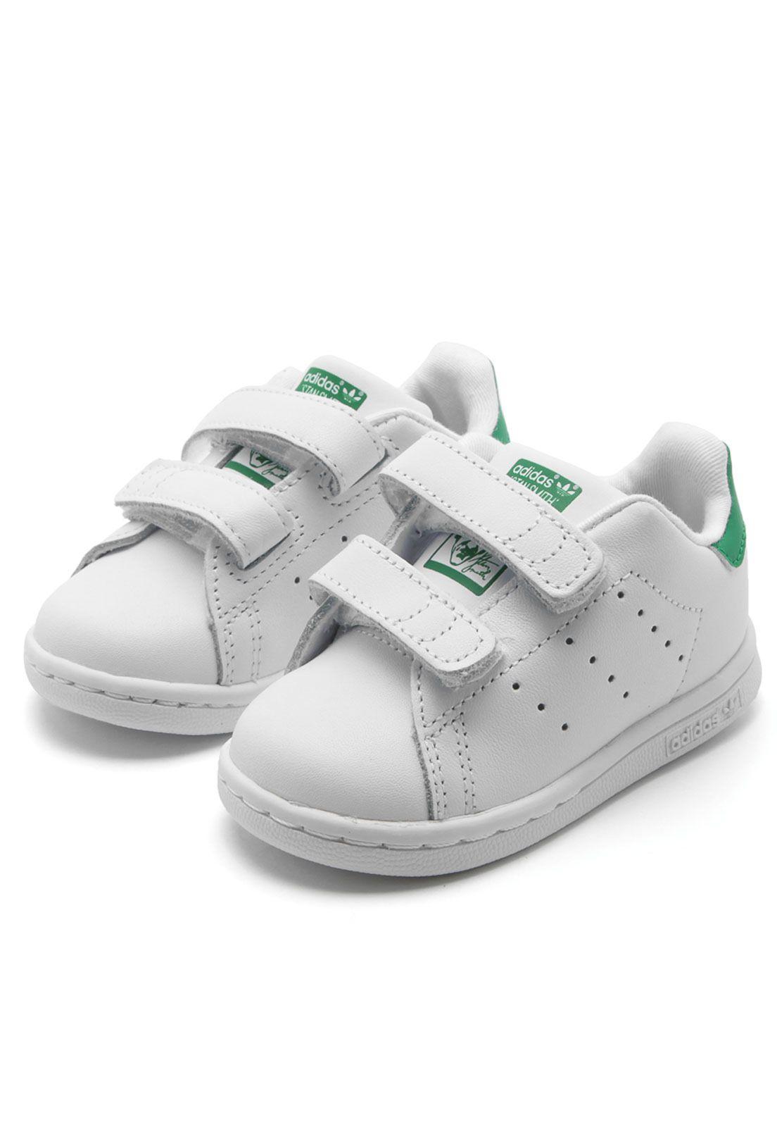 Tênis Couro adidas Originals Menino Stan Smith Branco