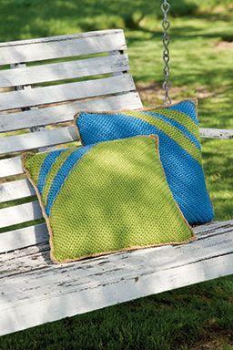 casual throw pillows with Jute or Hemp twine trim