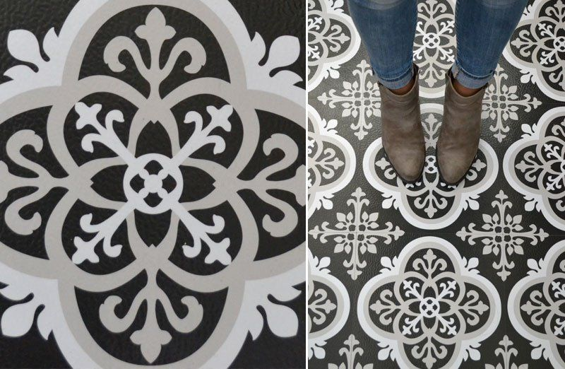 Peel And Stick Ornate Floor Tile Decor Steals Exclusive