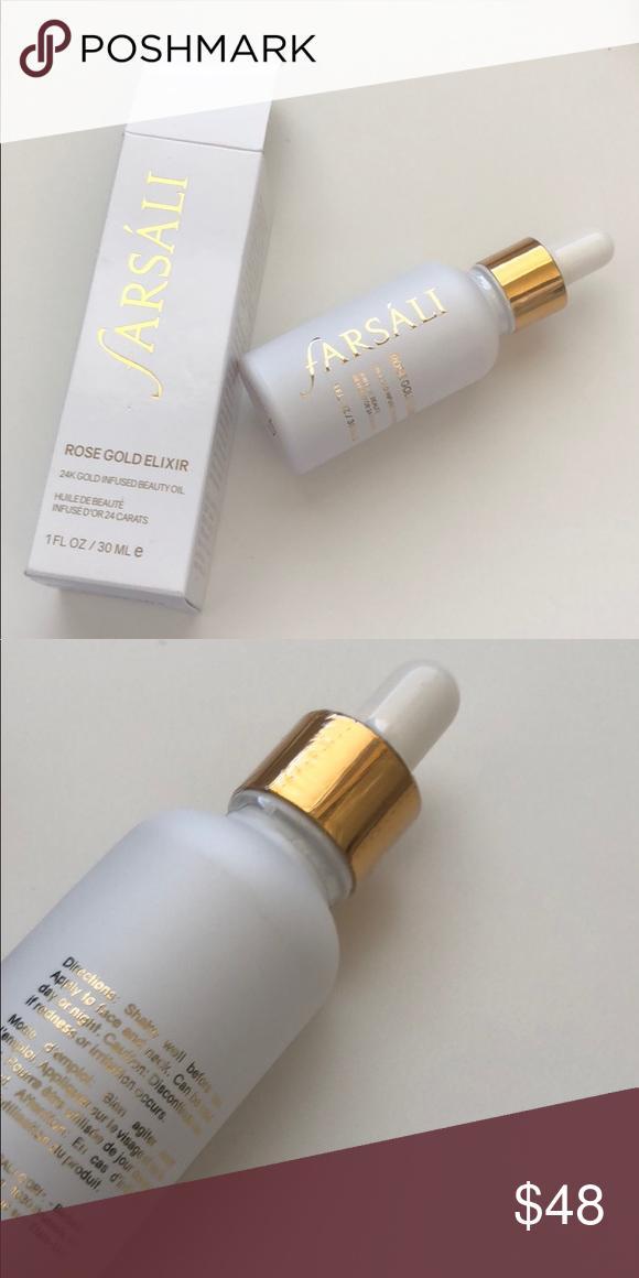 Farsali 24K Infused beauty oil Rose gold elixir. 100