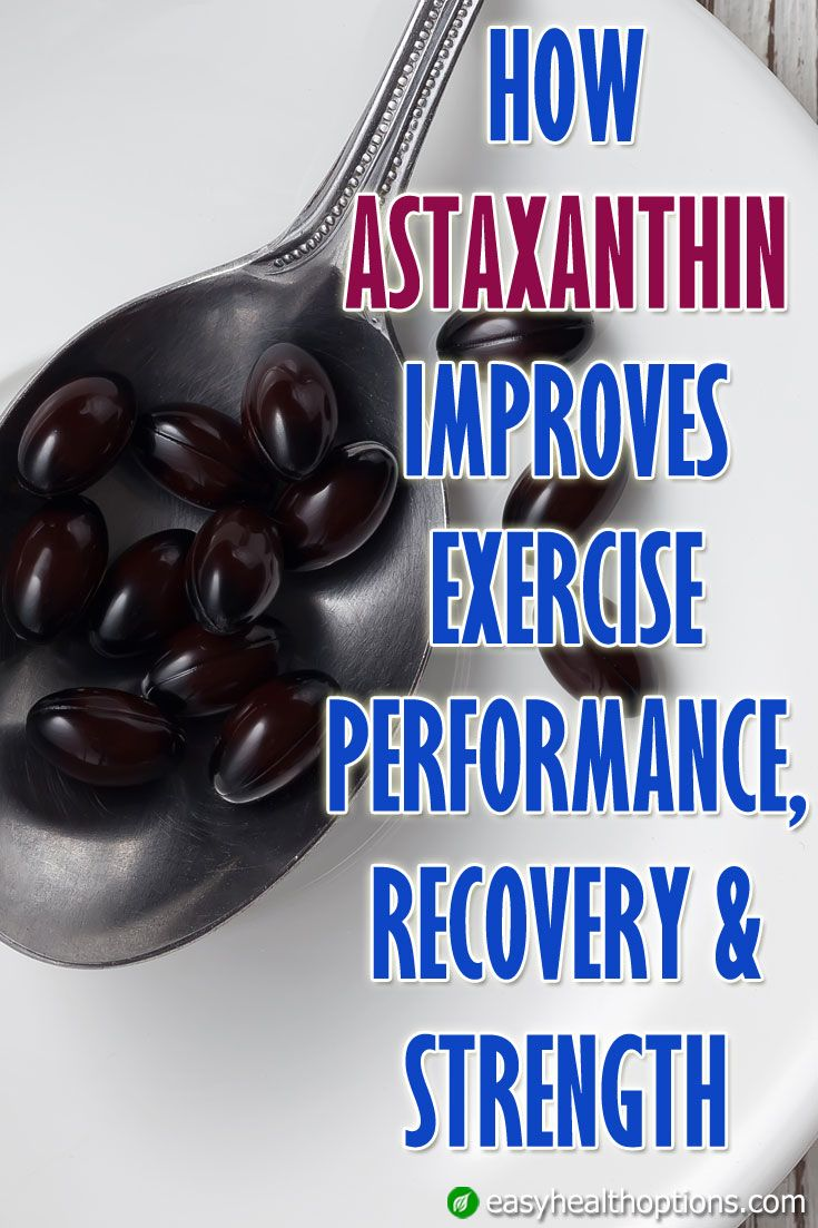How astaxanthin improves exercise performance recovery
