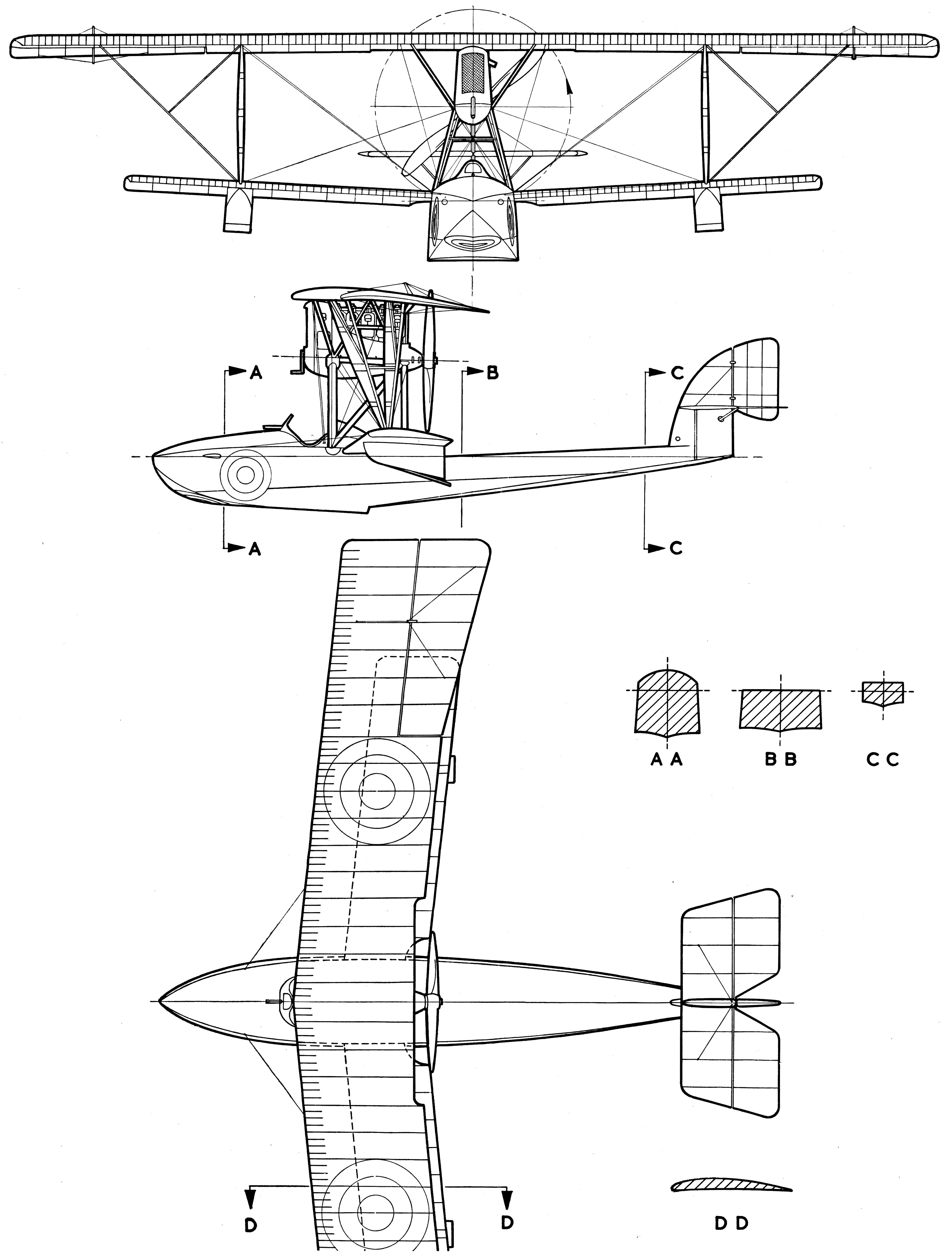 Macchi m5 blueprint airplane stuff pinterest cutaway macchi m5 blueprint malvernweather Images