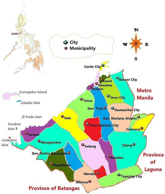 Cavite Is Subdivided Into 17 Municipalities And 6 Cities Cavite