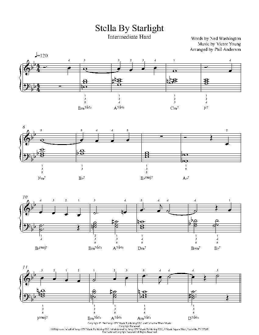 Stella by starlight by victor young piano sheet music songs hexwebz Images
