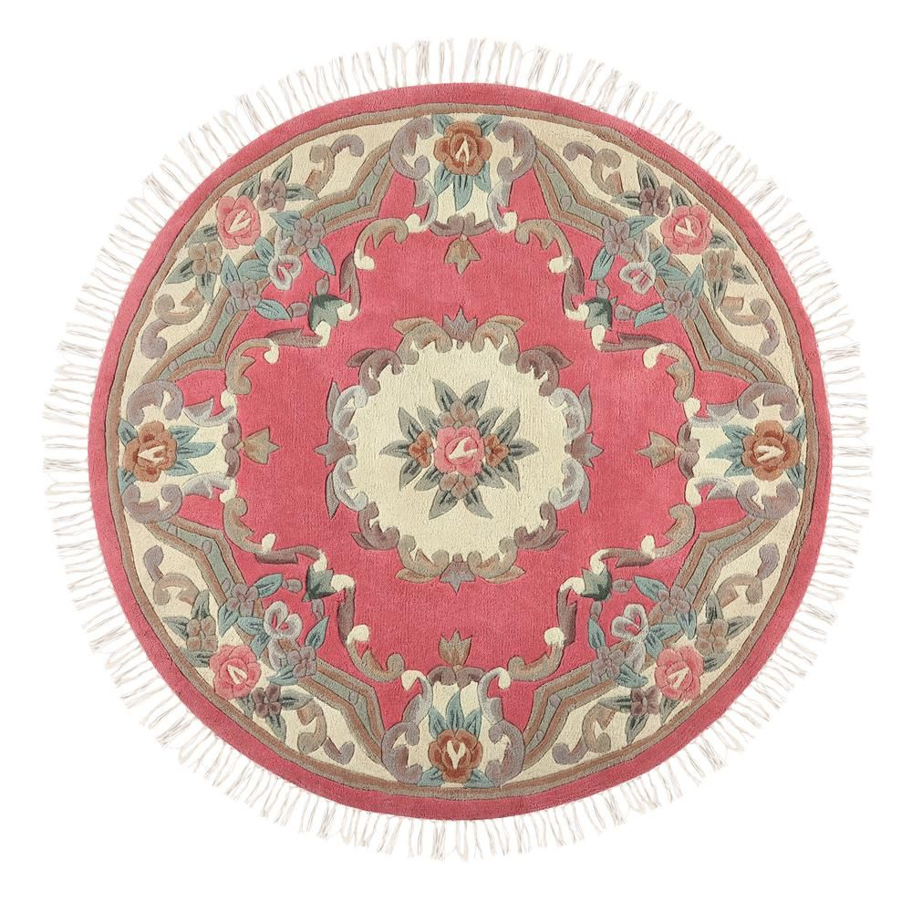 778eca5e8a4 Home Decorators Collection Imperial Rose (Pink) 5 ft. x 5 ft. Round Area Rug