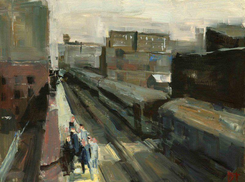 Roosevelt Road Inspection | Best of: oil paintings | Oil