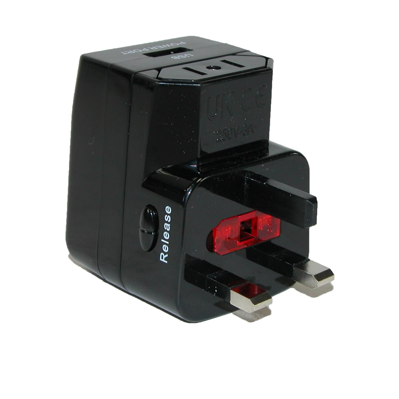 This International Adapter Features A Usb Charge Surge Protector And Converts Most 2 Or 3 Prong Plugs To Fit Most Sockets International Adapter Usb Adapter