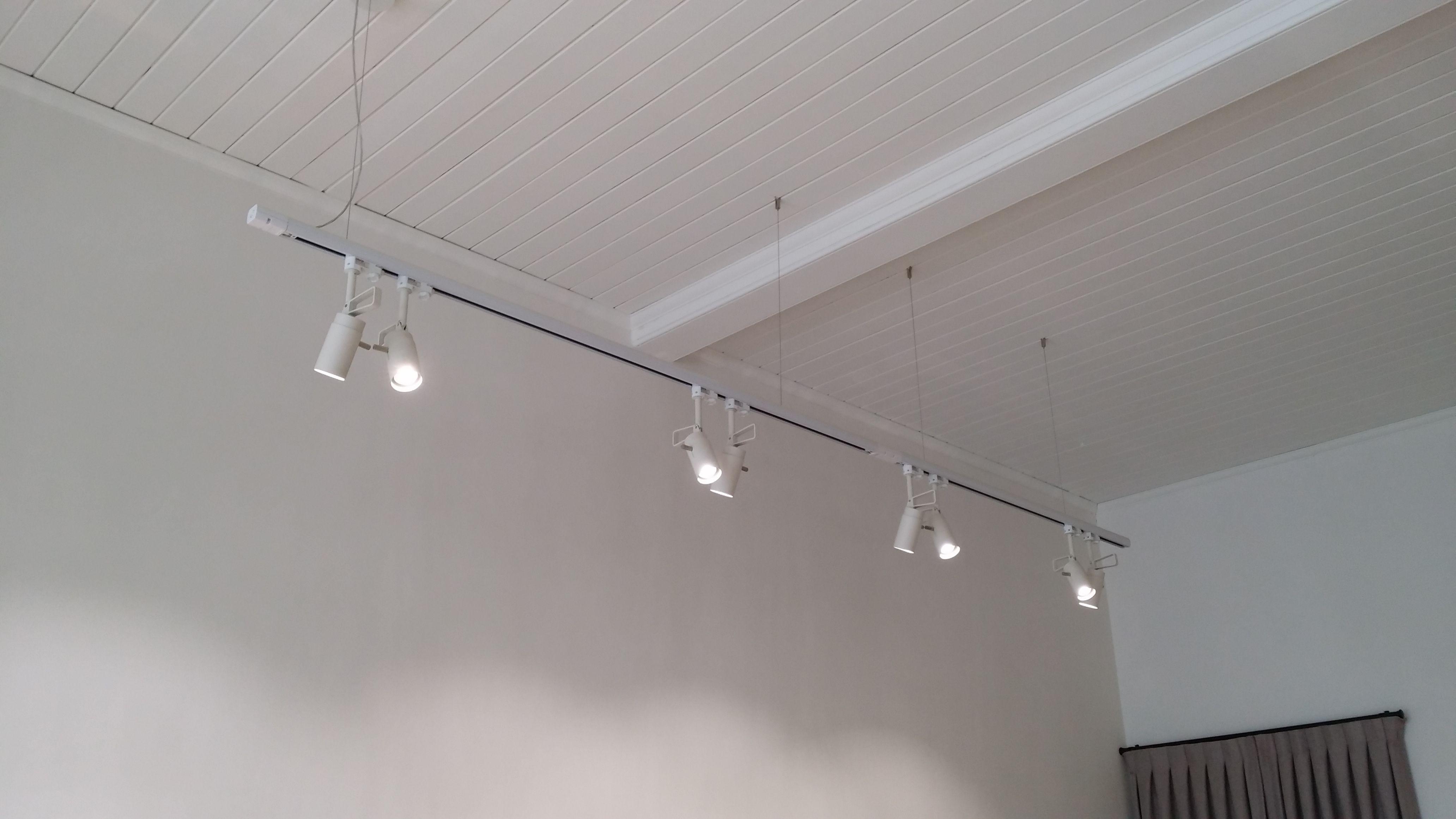 suspended hanging track spot lights